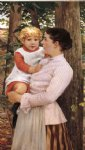 james carroll beckwith art - mother and child by james carroll beckwith