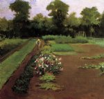 james carroll beckwith art - new hamburg garden by james carroll beckwith