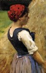 james carroll beckwith art - normandy girl by james carroll beckwith