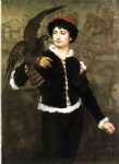 james carroll beckwith art - the falconer by james carroll beckwith