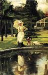 james jacques joseph tissot watercolor paintings - in an english garden by james jacques joseph tissot