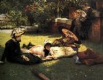 james jacques joseph tissot acrylic paintings - in the sunshine by james jacques joseph tissot