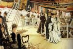 james jacques joseph tissot acrylic paintings - the ball on shipboard by james jacques joseph tissot