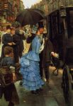 james jacques joseph tissot watercolor paintings - the bridesmaid by james jacques joseph tissot