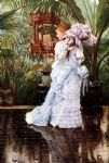 james jacques joseph tissot watercolor paintings - the bunch of lilacs by james jacques joseph tissot