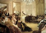 james jacques joseph tissot acrylic paintings - the concert by james jacques joseph tissot