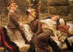 james jacques joseph tissot watercolor paintings - the garden bench by james jacques joseph tissot