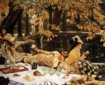 james jacques joseph tissot watercolor paintings - tissot the picnic by james jacques joseph tissot