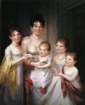 james peale acrylic paintings - madame dubocq and her children by james peale