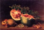 james peale acrylic paintings - still life with broken watermelon by james peale