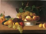 james peale acrylic paintings - still life with fruit ii by james peale