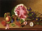 james peale still life with watermelon painting