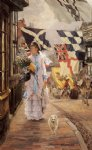 a fete day at brighton by james tissot painting