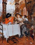 a luncheon by james tissot painting