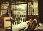a passing storm by james tissot painting