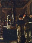 james tissot foreign visitors at the louvre paintings