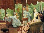 james tissot acrylic paintings - in the conservatory by james tissot
