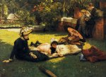 james tissot watercolor paintings - in the sunshine by james tissot