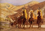 james tissot acrylic paintings - journey of the magi by james tissot