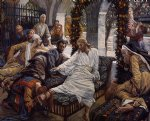 james tissot acrylic paintings - mary magdalene s box of very precious ointment by james tissot