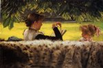 reading a story by james tissot paintings