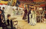 james tissot acrylic paintings - the ball on shipboard by james tissot