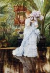 james tissot watercolor paintings - the bunch of violets by james tissot