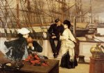 james tissot acrylic paintings - the captain and the mate by james tissot