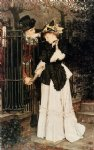 james tissot watercolor paintings - the farewell by james tissot