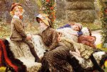 garden acrylic paintings - the garden bench by james tissot
