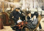 james tissot acrylic paintings - the last evening by james tissot
