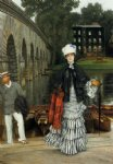 james tissot the return from the boating trip art
