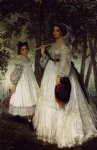 james tissot the two sisters portrait painting-31581