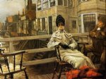 waiting for the ferry ii by james tissot painting