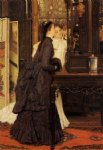japanese famous paintings - young ladies looking at japanese objects by james tissot