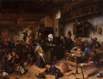 girl acrylic paintings - a school for boys and girls by jan steen