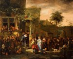 a village wedding by jan steen painting