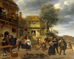 peasants before an inn by jan steen oil paintings