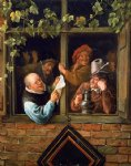 rhetoricians at at window by jan steen oil paintings