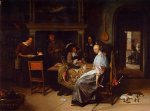 jan steen the cardplayers posters