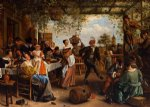the dancing couple by jan steen oil paintings