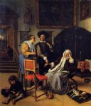 the doctor s visit by jan steen oil paintings