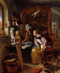 jan steen artwork - the drawing lesson by jan steen