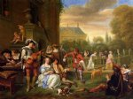 the garden party by jan steen oil paintings