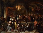 jan steen artwork - the wedding feast at cana by jan steen