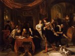 jan steen artwork - the wedding of tobias and sarah by jan steen