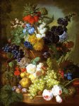 jan van os still life of flowers fruit and bird s nest on a marble ledge painting 31440