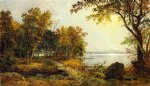 jasper francis cropsey art - a cabin on greenwood lake by jasper francis cropsey