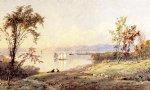 jasper francis cropsey art - along the hudson by jasper francis cropsey