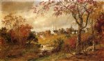 autumn art - autumn landscape by jasper francis cropsey